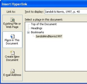 how to build Kindle Table of Contents using internal hyperlinks