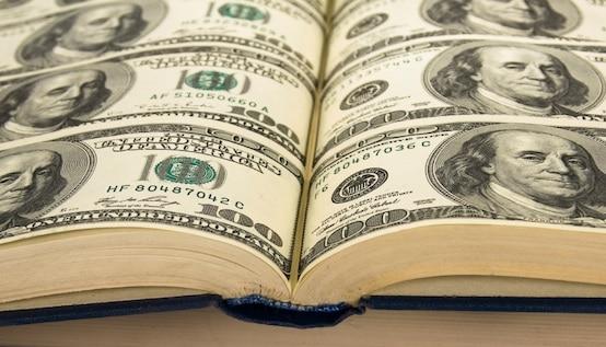 money to write books